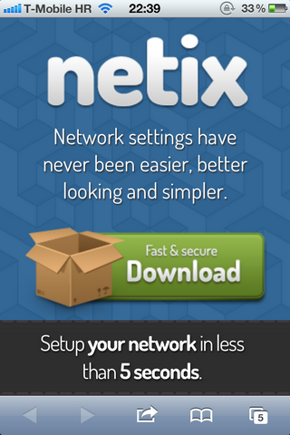 Netix WP on iPhone